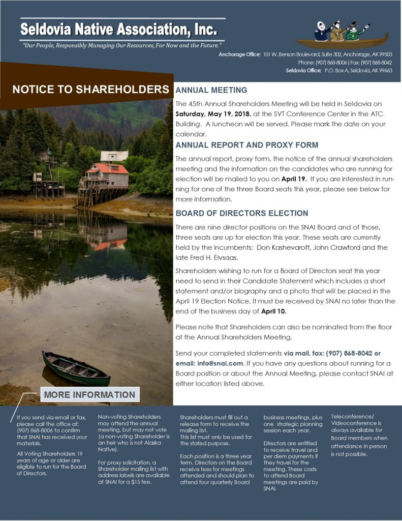 03.19.2018_Notice_to_Shareholders DRAFT2